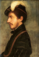 Dream-art Oil painting Holbein Hans Male Portrait of Sir Nicholas Poyntz canvas
