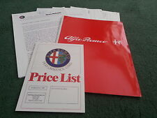 1987 Alfa Romeo 33 1.5 Ti / 1.7 CLOVERLEAF / VELOCE UK PRESS RELEASE - BROCHURE