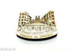 Calamita Magnete in Legno Souvenir Roma Piazza di Spagna. Fridge magnets