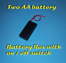 BATTERY BOX WITH ON/OFF SWITCH - 2 AA BATTERY HOLDER