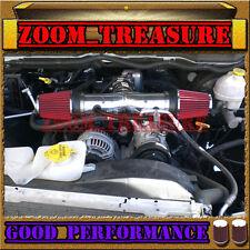 BLACK RED DUAL 2004-2007/04-07 DODGE DAKOTA/DURANGO 4.7L V8 TWIN AIR INTAKE KIT