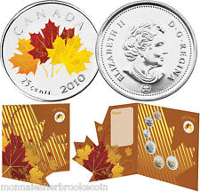 2010 Canada 25 Cents Maple Leaf - Oh Canada - 7 Coins Set - D485