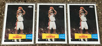 2007 Topps Chrome LeBron James #23 1957-58 Variant Mint, Three Card Set!