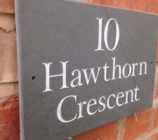 """Personalised Premium Quality Slate House sign plaque 12"""" x 8""""  FAST DISPATCH!!"""