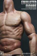 1/6 muscular Muscle Nude figure body+8 hands fit Hot Toys Head Sculpt & Parts