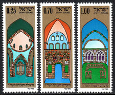 Israel 541-543,MNH.Interiors of restored synagogues in Jerusalem's Old City,1974