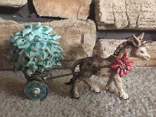 1992 DeGrazia Goebel Feliz Navidad Burro Donkey Cart Limited Edition Figurine
