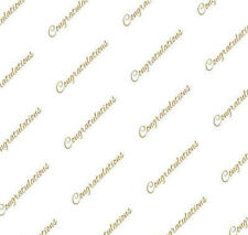 Gold Congratulations Tissue Paper on White # 513 ~ 10 Large Sheets