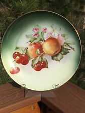 ZS & Co. Bavaria Cabinet Plate Fruits & Floral 1880-1910