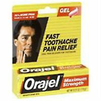 Orajel Maximum Strength Toothache Pain Relief Gel 0.25 oz (Pack of 2)
