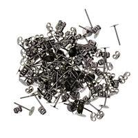 100 Sätze 6mm Flachpolster Ohrstecker Pfosten Rücken Ergebnisse für die