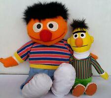 Sesame Street Bert And Ernie Plush Soft stuffed toys x 2 Gund