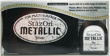 STAZON Solvent Ink Pad &Refill METALLIC SILVER Archival