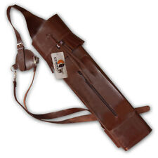 CAROL TRADITIONAL ARCHERY BACK LEATHER ARROW QUIVER AQ120A BROWN