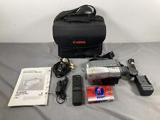 Canon G1000E 8mm Video Camera Camcorder Video8 Cassette Tape Bundle Set Working