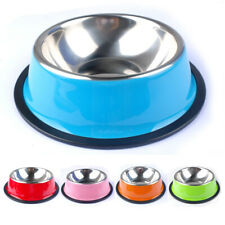 Anti Slip Cat Dog Bowl Stainless Steel Portable Outdoor Travel Water Food Feeder