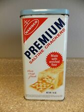 """New listing Vintage Nabisco Premium Saltines Metal Canister - 10"""" H X 4.5"""" Square"""