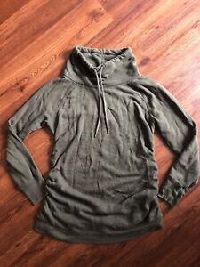 Isabel Maternity Sweatshirt Size M Green Pullover Comfy Stylish Fall Winter EUC