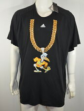 Adidas Men's T-Shirt 4XL Miami Hurricanes Turnover Chain Amplifier Black NWT