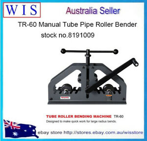 TR-60 Manual Tube Pipe Roller Bender, High Precision Tubing Pipe Bender-8191009