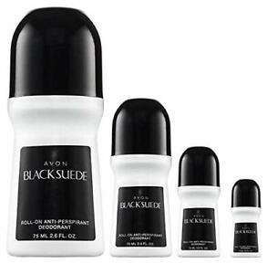 Avon Black Suede Roll-on Anti-perspirant Deodorant Bonus Size 2.6 oz (4-Pack)