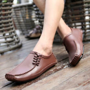 Mens Faux Leather Driving Moccasins Shoes Pumps Slip on Loafers Breathable New L