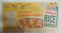 Kellogg's Cereal Ad: Oooh Rice Krispies Squares from 1949 Size: 7.5 x 15 inches