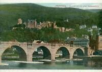 Ansichtskarte Heidelberg Schloss mit der alten Neckarbrücke  (Nr.9200)