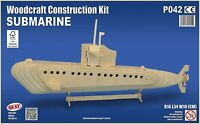 SUBMARINE Woodcraft Construction Kit - Wooden Model DIY 3D Puzzle ADULTS/KIDS