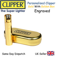 NEW PERSONALISED CHRISTMAS DAY GIFT BIRTHDAY PERSONALISED GOLD CLIPPER LIGHTER