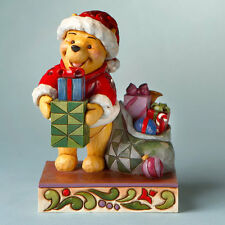 """FIGURINE STATUE NEUVE DISNEY TRADITIONS """"PRESENTS FROM POOH"""" WINNIE L'OURSON"""