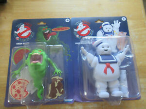 """The Real Ghost Busters """"Slimer"""" and Stay """"Puft Marshmallow Man Kenner"""""""