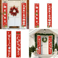 Merry Christmas Banner Wall Hanging Door Curtain Banners Home Party Decor Supply