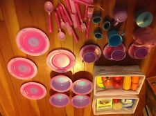 Lot Pretend Play wooden Food,Dishes,pots and pans Accessories