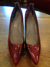KENNETH COLE SILVER FOX EDITION 9-2-5 BURGUNDY LEATHER HEEL SHOES WOMEN'S 7 1/2M