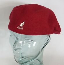 Kangol Wool 504 Flatcap Red Velvet Wool Hat Cap Pepe Flat Cap New