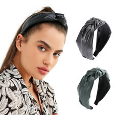 Fashion Women's Leather Knot Headband Wide Hairband Hair Band Hoop Accessories