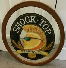 Shock Top Belgian White Beer Oval Mirror