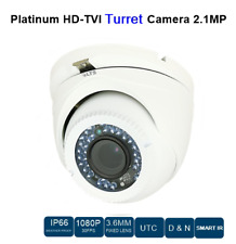 CCTV HD-TVI TURRET CAMERA 2.1MP, 3.6MM FIXED LENS, CCTV SECURITY IN / OUT DOOR