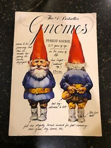 Gnomes Original First Softcover Edition Book 1979 by Wil Huygen