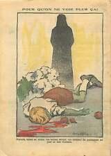 Parents Indigne Children Enfant Martyr Front Populaire France 1937 ILLUSTRATION