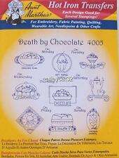 4005 Aunt Martha's Hot Iron On Transfers DEATH BY CHOCOLATE Embroidery
