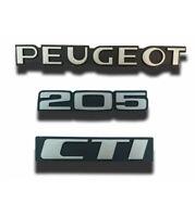 Kit de 3 monogrammes PEUGEOT + 205 + CTI