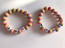 Children's Rainbow Name Bracelets 🌈