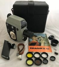 Vintage Quarz Russian Soviet Clockwork Wind-Up 1960s 8mm Cine Camera Case Filter