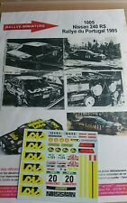 Decals promo 1/24 réf 1005 Nissan 240 RS Portugal 1985