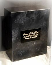 Genuine Marble Oversized Single or Double Cremation Urn with Free Engraving