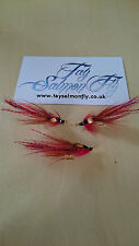 3x Half Irish Piglett Size 12 Gold Double Hook Salmon Fly Free Postage