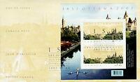 CANADA #2213 OTTAWA'S SESQUICENTENNIAL SOUVENIR SHEET FIRST DAY COVER