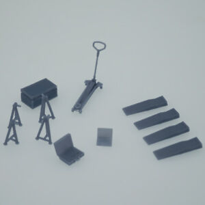 Outland Models Rally Racing Car Garage Maintenance Accessory Set Scale 1:43
